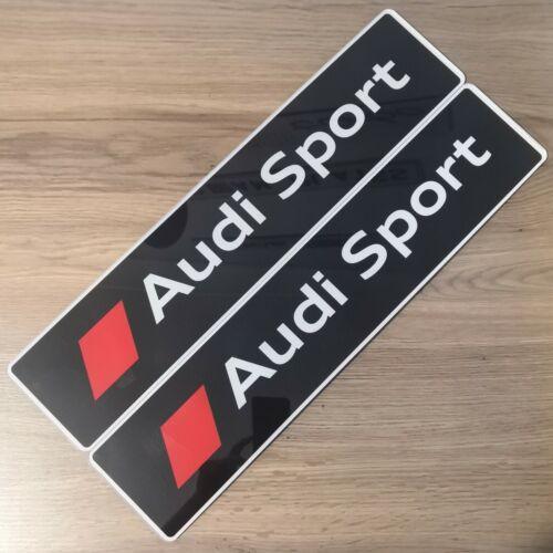 RS5 quattro S5 RS3 RS4 S3 COPPIA di Audi Sport Nero mostra targhe S4
