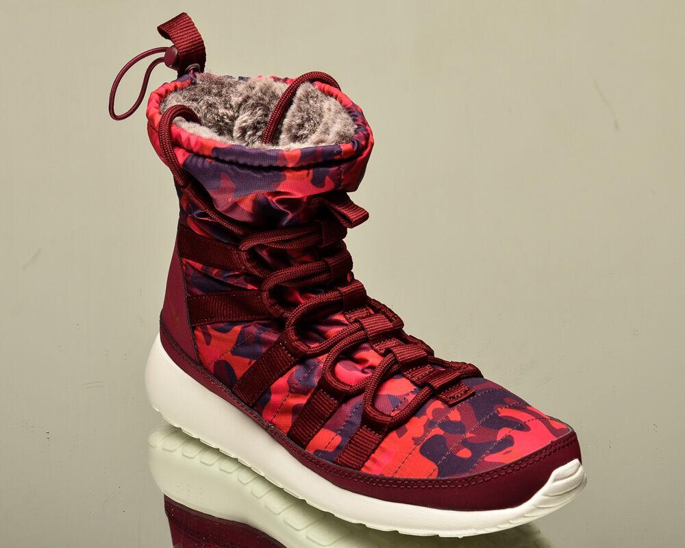 Nike WMNS Roshe One Hi Print Femme lifestyle sneakers winter NEW deep garnet
