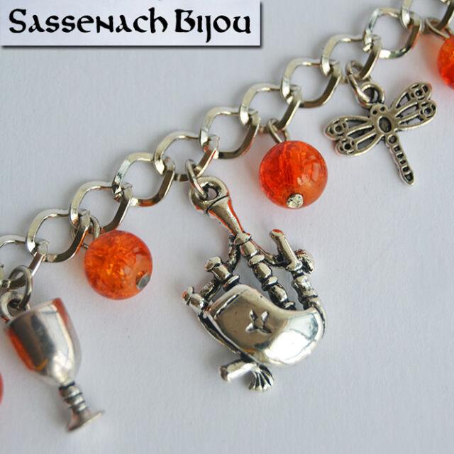 Claire Fraser in Scotland Celtic Charm Bracelet Outlander Sassenach Jewelry
