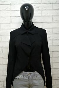 Patrizia-Pepe-Donna-44-Cappotto-Nero-Lana-Giacca-Lunga-Blazer-Jacket-Woman-Black