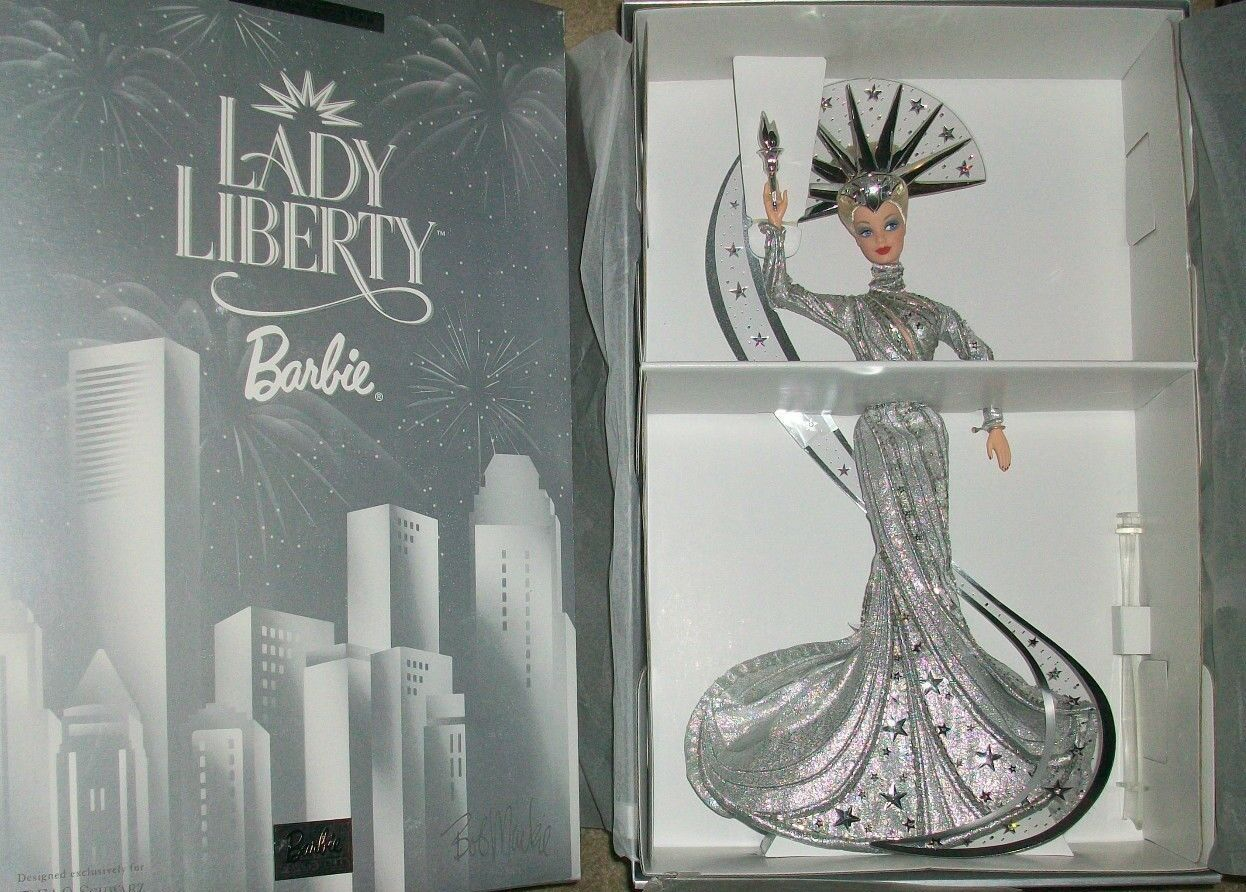 2000 Edición Limitada Lady Liberty Barbie Bob Mackie