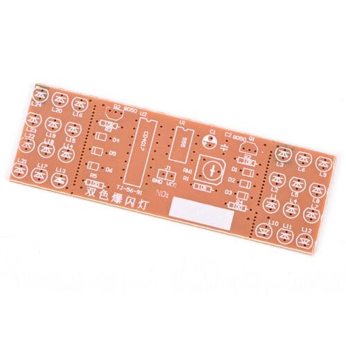 NE555 CD4017 Scrollings Flowings Red Lights SMD DIY Kits Soldering Practice Kits