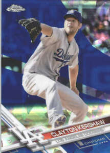 CLAYTON-KERSHAW-2017-TOPPS-CHROME-SAPPHIRE-EDITION-50-ONLY-250-MADE