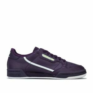 Femmes-Adidas-Originals-Continental-80-Lacets-Matelasse-Baskets-Violet
