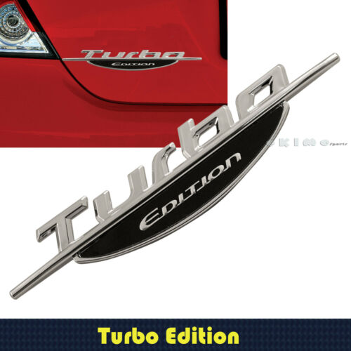 3D STICK ON TURBO EDITION EMBLEM DECAL ABS CONSTRUCTION CAR TRUCK SUV/'S BOAT