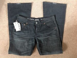 ALL SAINTS SILICON BOOTCUT BLACK DENIM JEANS WASIT 31 LEG 29 NEW