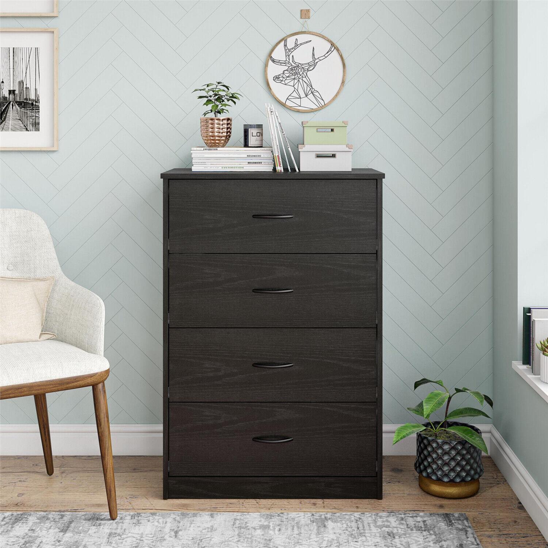 Solid Wood Hardwood 4 Drawer Dresser Cherry Finish For Sale Online Ebay