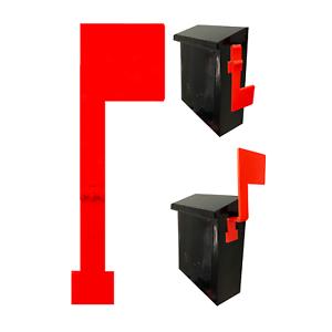 No Tools MCCHJoy Folding Vertical Mailbox Flag Wall Mounted Mailbox Flag