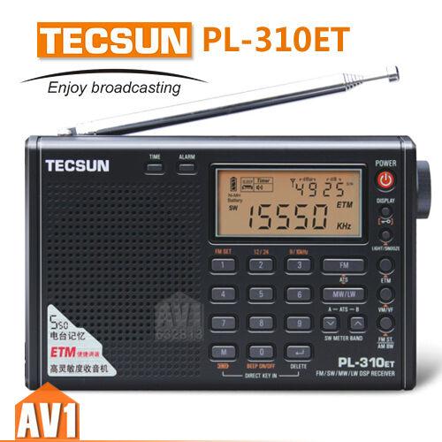 TECSUN PL310ET PLL DSP ETM Multiband portable radio receiver. FM Stereo/SW/MW/LW