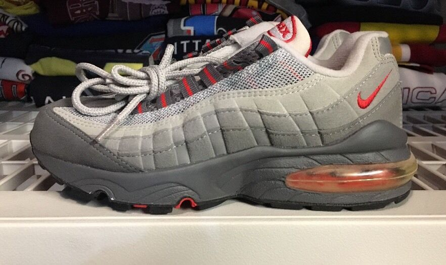 Vintage Nike Air Max 95 Sc Gs 4.5 Pimento Ds 1999 agrietado No ponible