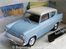 FORD ANGLIA MODEL CAR BLUE 1:43 SCALE CARARAMA CR025 ISSUE 251XND 60'S K8Q
