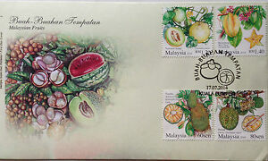 Malaysia FDC with Stamps (17.07.2014) - Malaysian Fruits