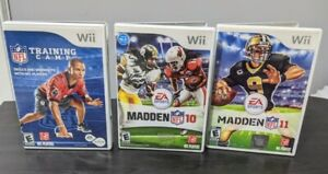 Wii-Games-Lot-of-3-Madden-10-amp-11-NFL-Training-Camp-Tested