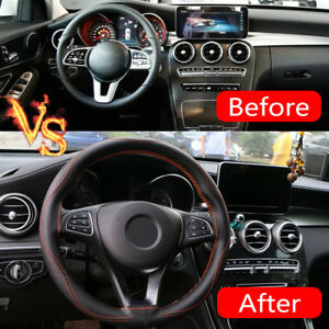 38cm-Universal-Real-Leather-DIY-Car-Steering-Wheel-Cover-Auto-Protection-Needle