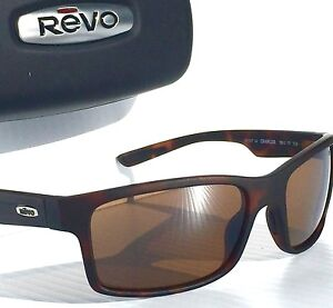 10cbe31eb7 NEW  REVO CRAWLER Tortoise Matte POLARIZED Brown Terra Len Sunglass ...