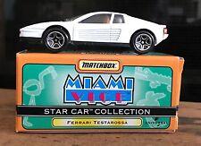 "MATCHBOX STAR CAR COLLECTION "" FERRARI TESTAROSSA ""  MIAMI VICE"