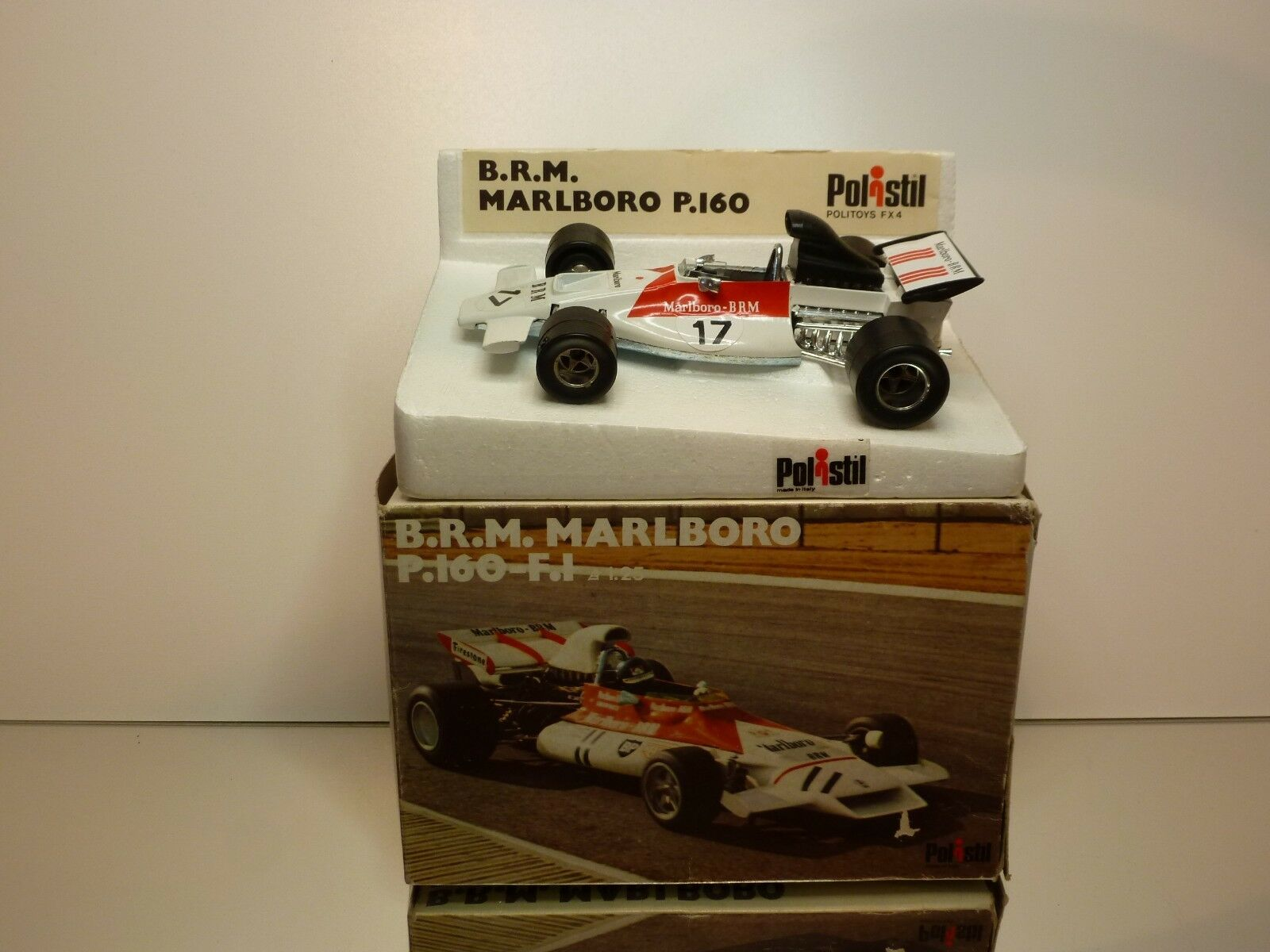 POLISTIL FX4 BRM MARLBgold P160 F1 WHITE 1 25 - GOOD CONDITION IN BOX