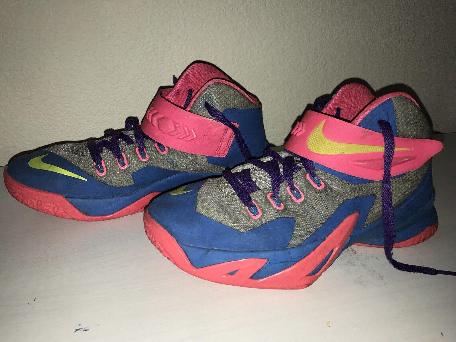 Nike Zoom LeBron Soldier amarillo VIII 8 PMR azul rosa amarillo Soldier gris púrpura gris tamaño 7y casual salvaje 5bd4db