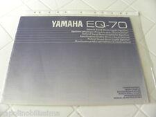 Yamaha EQ-70 Owner's Manual  Operating Instructions  New
