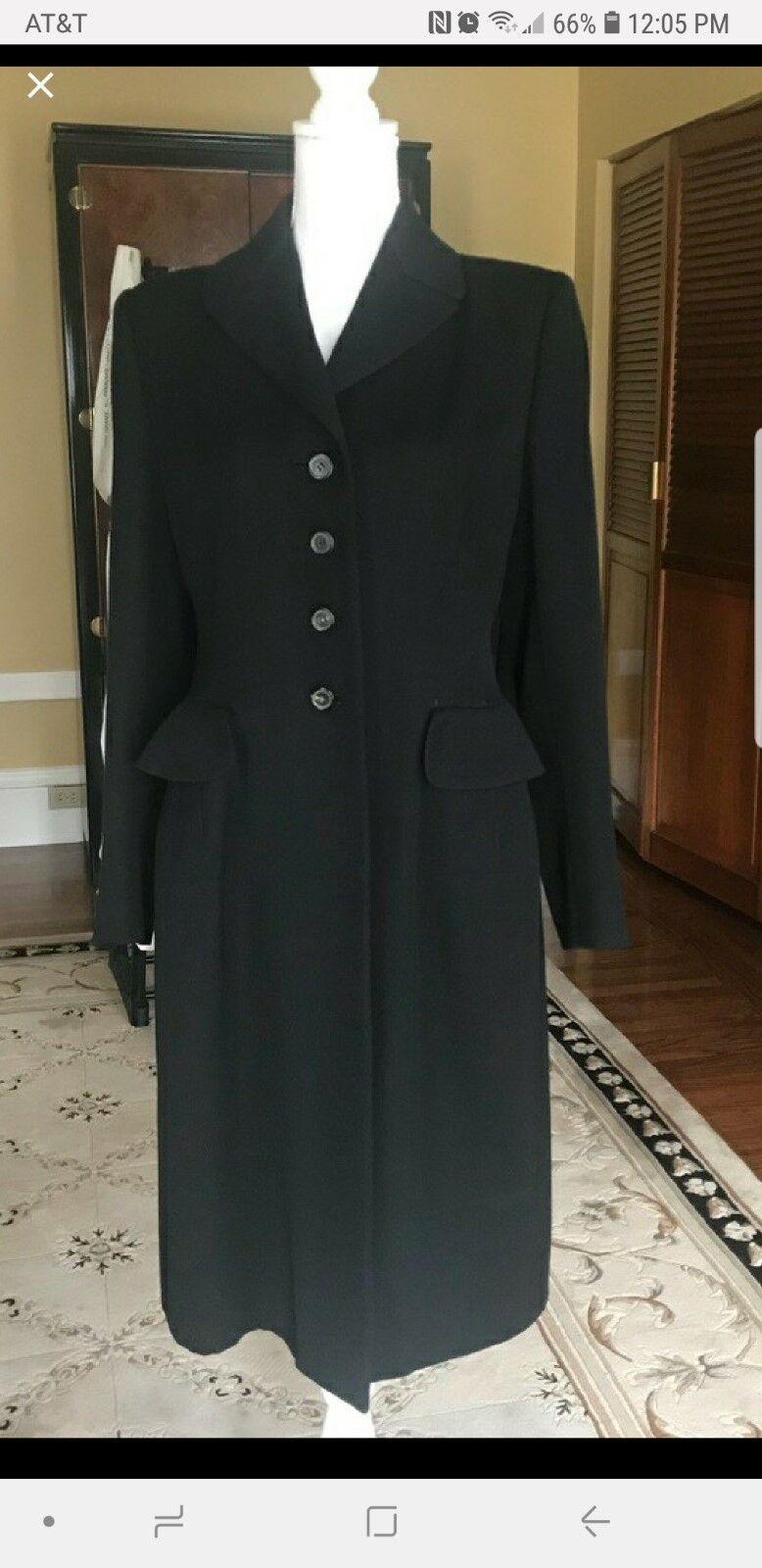 Prada Wool Elegant Coat SZ 44