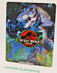 LOST-WORLD-Jurassic-Park-2-Lenticular-3D-Flip-Magnet-Cover-FOR-bluray-steelbook