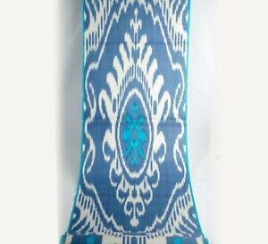 Blue-Ikat-Fabric-By-The-Yard-handloom-ikat-fabric-Silk-Ikat-fabric-upholstery
