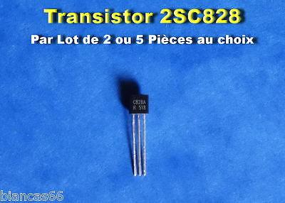 C828  NPN 30V 50mA TO-92 # TR002 Lot  de 10 Transistors 2SC828