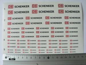 DB-Schenker-water-transfer-decals-aufkleber-set