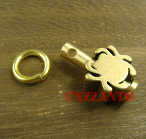 Brass Pin S size Key chain ring for Paracord lanyard bead zipper pull H440S