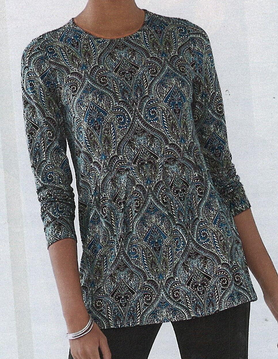 J.Jill    Wearever Shirt   XL   NWT     Pleated Peplum Top