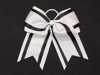 "NEW /""Pink /& Black Glitz/"" Cheer Bow Pony Tail 3/"" Ribbon Girls Bows Cheerleading"