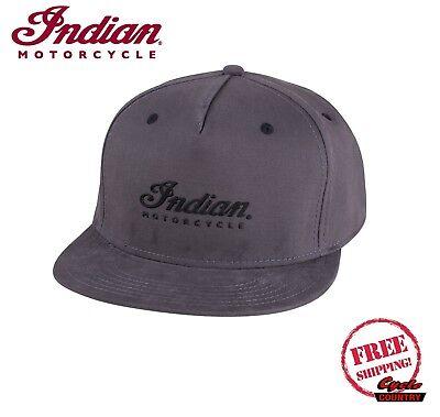 S//M Indian Motorcycle Flexfit Flatbill Script Hat Black