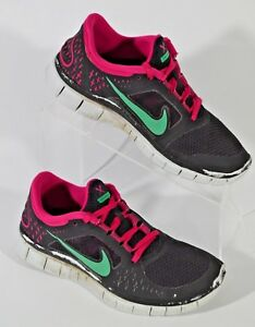 new product 2deaa b9b30 Image is loading Women-s-Nike-Free-Run-3-Black-Pink-