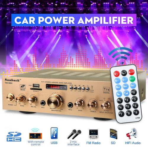 2000W 220V Digital Amplifier HIFI bluetooth AMP Stereo Audio AUX Mic Car Home