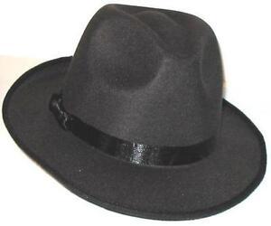 d63dee0f4acb2 8 BLUES BROTHERS FEDORA HATS - Gangster Gangsta Pimp Black - Free ...