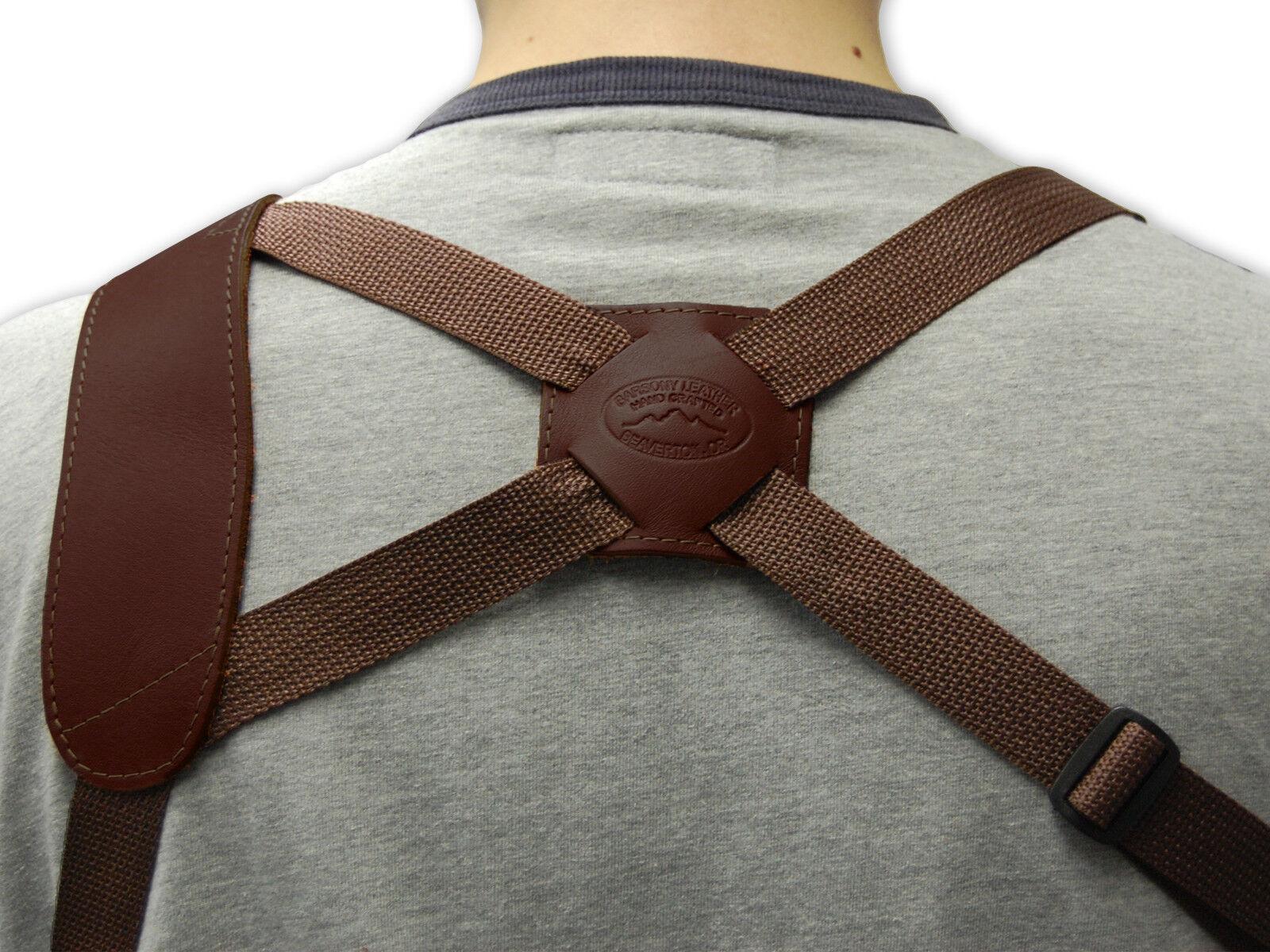Barsony Braun Leder Vertical Shoulder COLT Holster for COLT Shoulder SINGLE ACTION ARMY 4