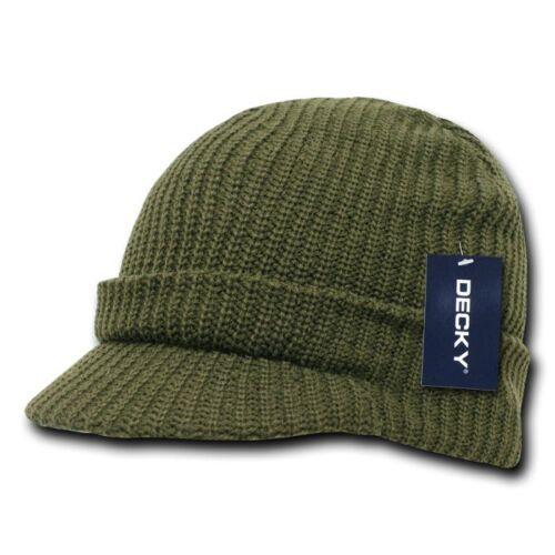 Decky Crocheted Beanies GI Caps Hats Visor Ski Thick Warm Winter Unisex