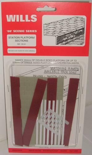 NEW 00 Gauge Station Platform Sections Wills SS61