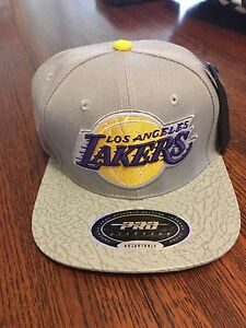 9d5f32121de Image is loading Los-Angeles-Lakers-Pro-Standard-Logo-Strapback-Adjustable-