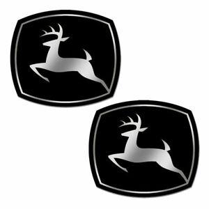 2-PVC-Vinyle-Autocollants-John-Deere-Tracteur-Agricole-Stickers-Voiture-Auto