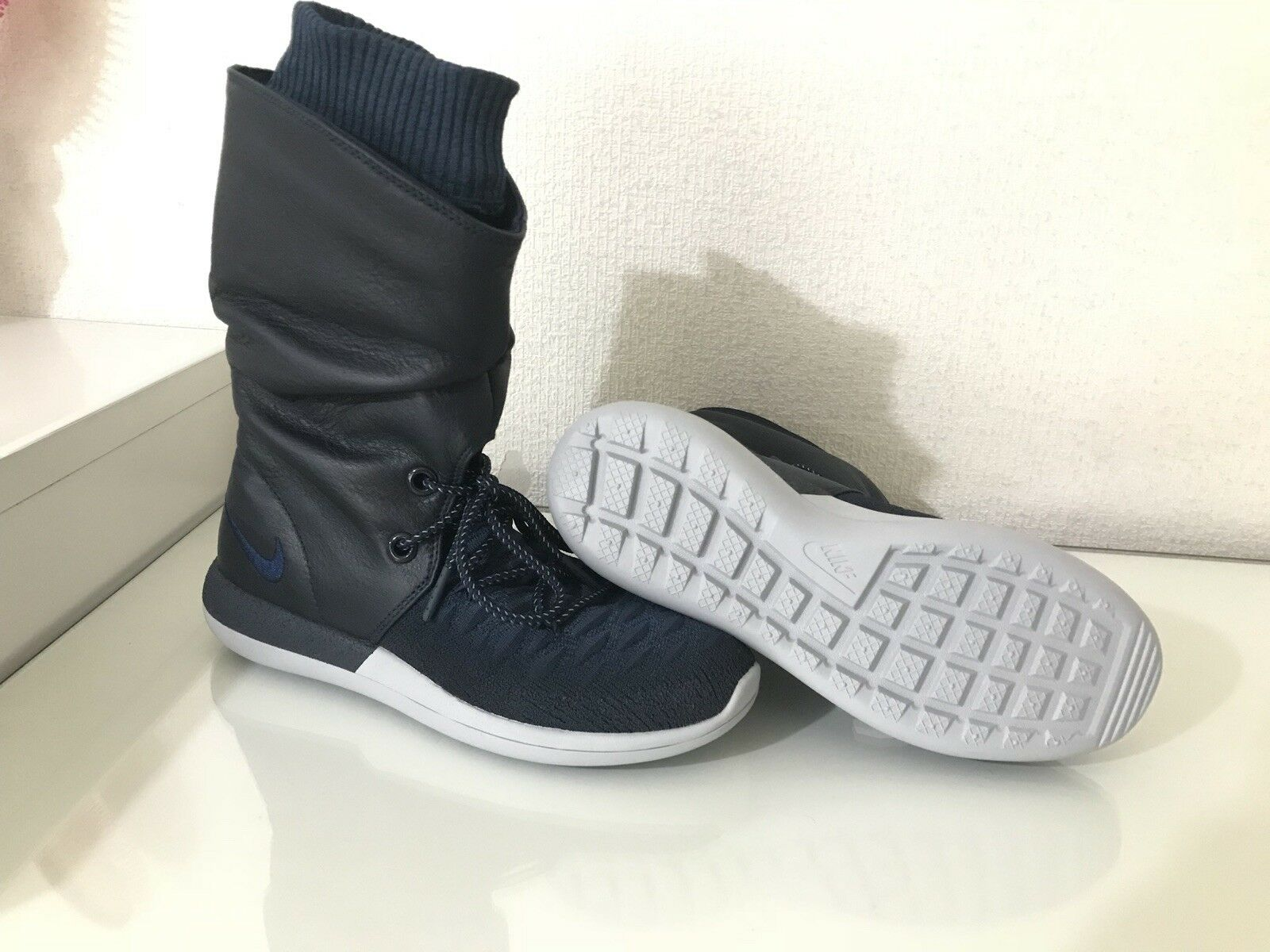 Nike W Roshe Two Hi Flyknit Mid & Navy/ High Tops - College Navy/ & College Navy  uk4 0b66e4