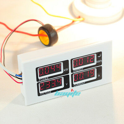 100A AC 80~260V Digital Power Meter Monitor Voltage KWh Watt Voltmeter Ammeter