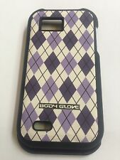 T-mobile Body Glove Purple Diamond Snap On Hard Case Cover For LG myTouch Q C800