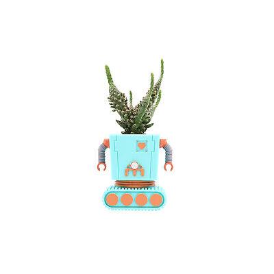 Planterbot DOIY Blumentopf Übertopf Roboter Kaktus Topf Blau Rot Pflanzen