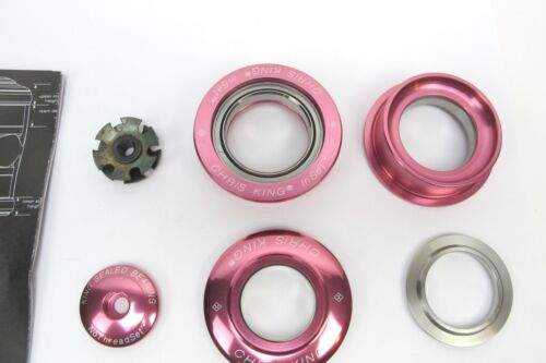 """ZS49//ZS49 1 1//8/"""" NEW Chris King i4 Headset Inset 4 Pink 10 Year Warranty"""