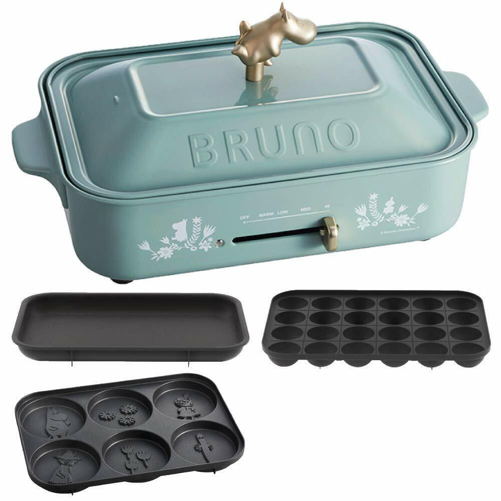 BRUNO X MOOMIN Grill Cuisson Fête Assiette Et 3 Pan Set Takoyaki Limited Produit