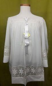 Vintage-Ihs-Emblema-Silky-Alicates-Nylon-Surplice-Cuadrado-Cuello-M-Nuevo-21-3ms