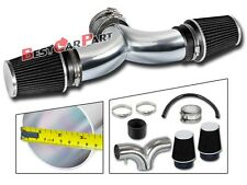 BCP BLACK 99-04 JEEP Grand Cherokee 4.7 V8 Dual Twin Air Intake Kit+Air Filter