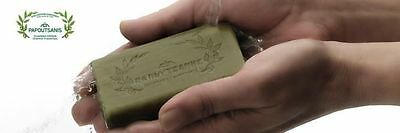Greek Traditional Olive Oil Green Soap  3 Bars 125g Each Bar