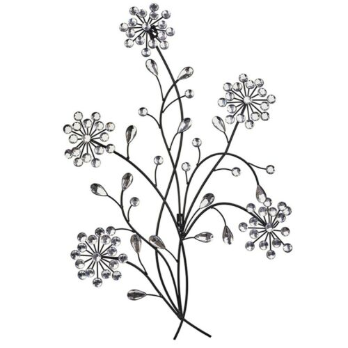 Primus® Floral Metal Diamante Ice Droplet Wall Art Outdoor use D6 for Indoor